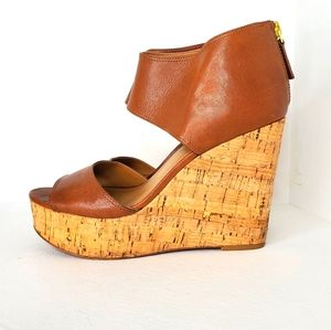 Nine West Women's Caswell Wedge Sandals sz 7M